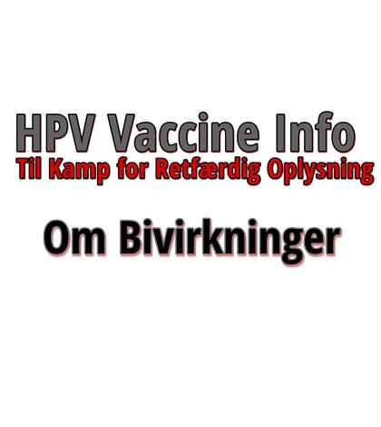 bivirkninger af hpv vaccine
