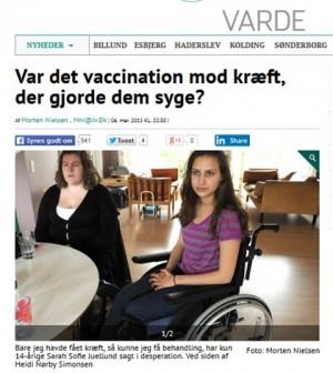 hpv vaccine bivirkninger